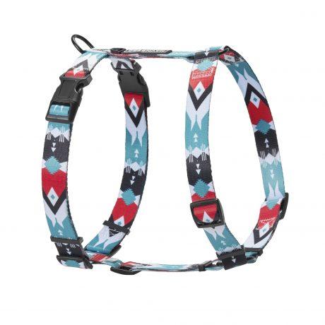 Schönes Hundegeschirr im türkisen Navajo Design H-Form
