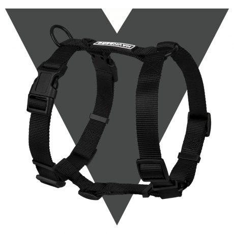 Schwarzes Hundegeschirr von HAVNBERG H-Geschirr